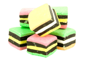 Allens Red Frogs or Licorice Allsorts