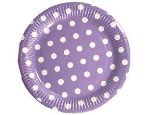 Party-Supplies-Paper-Plates-Spots-Purple-Lge-MyLollies